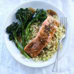 Orange-Sesame Salmon with Quinoa & Broccolini Recipe