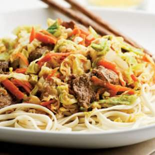 Tuesday: Beef & Cabbage Stir-Fry with Peanut Sauce