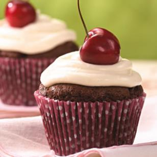 Chocolate-Cherry Cupcakes Recipe