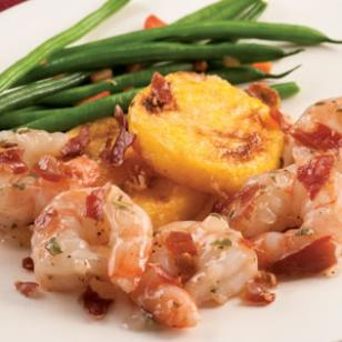 Shrimp Saltimbocca with Polenta Recipe