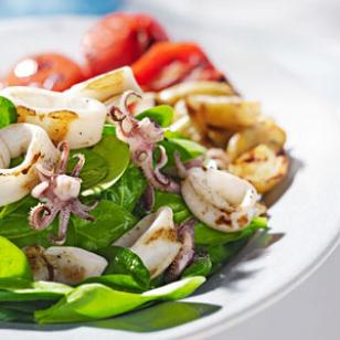 Grilled Calamari &amp;amp; Potato Salad Recipe