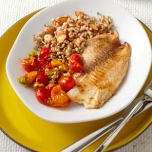Tilapia with Tomato-Olive Sauce Recipe