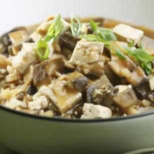 Chinese Braised Mushrooms & Tofu Recipe