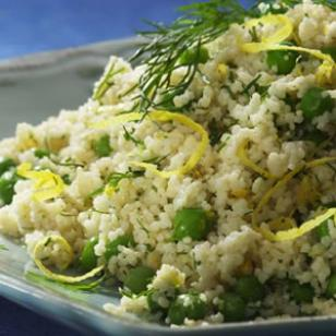 Whole-Wheat Couscous with Parmesan &amp;amp; Peas Recipe