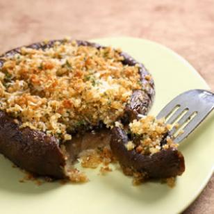 Roasted Stuffed Portobello Mushrooms