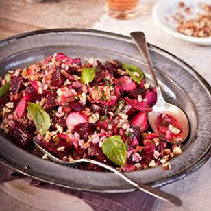 Roasted Beet & Barley Salad Recipe