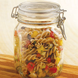 Save your glass jars and use them to store food