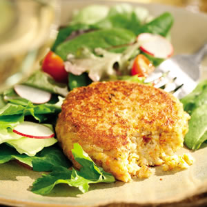 Brown Rice & Goat Cheese Cakes