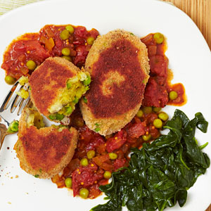Curried Pea & Potato Croquettes